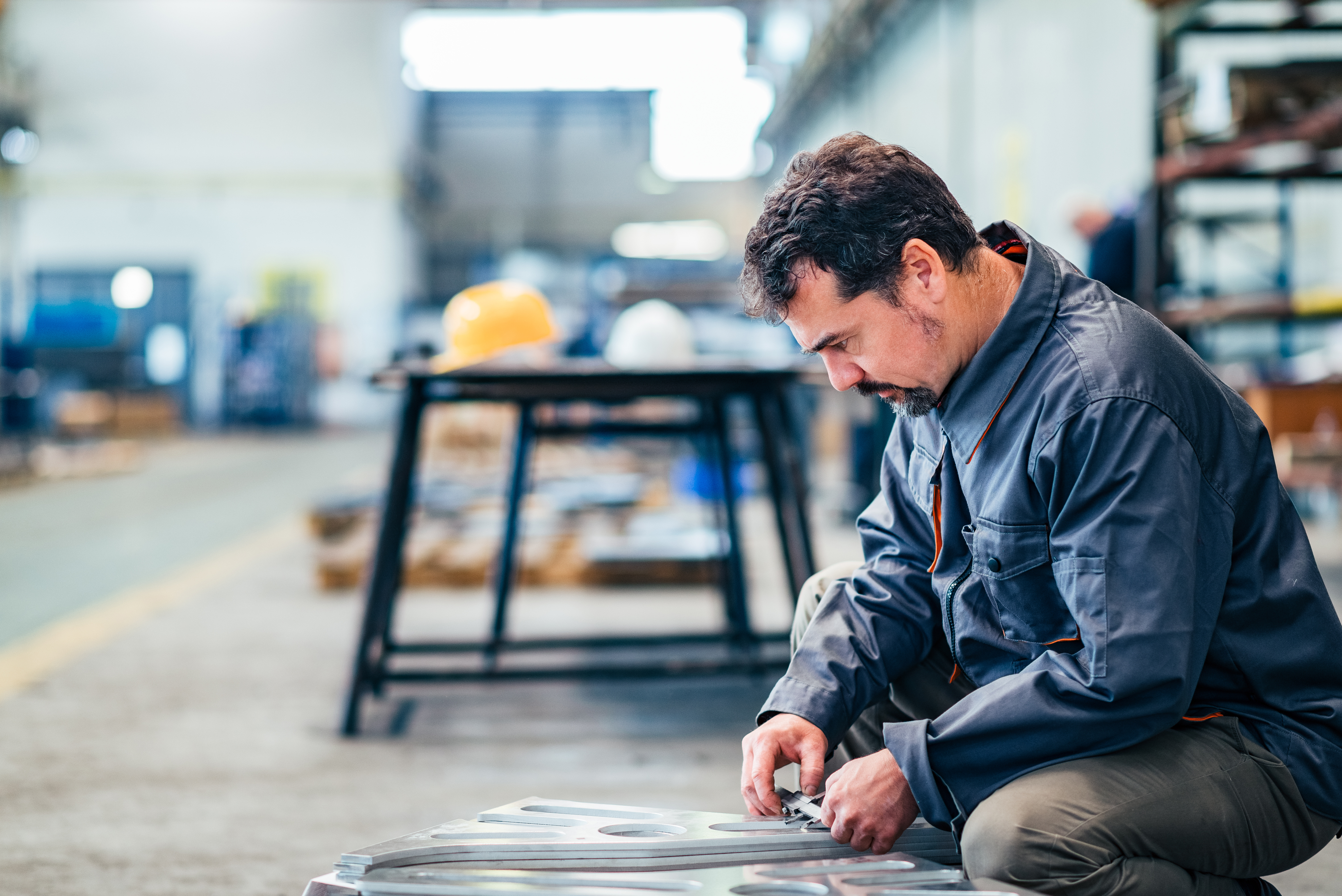 Man working in industrial sector