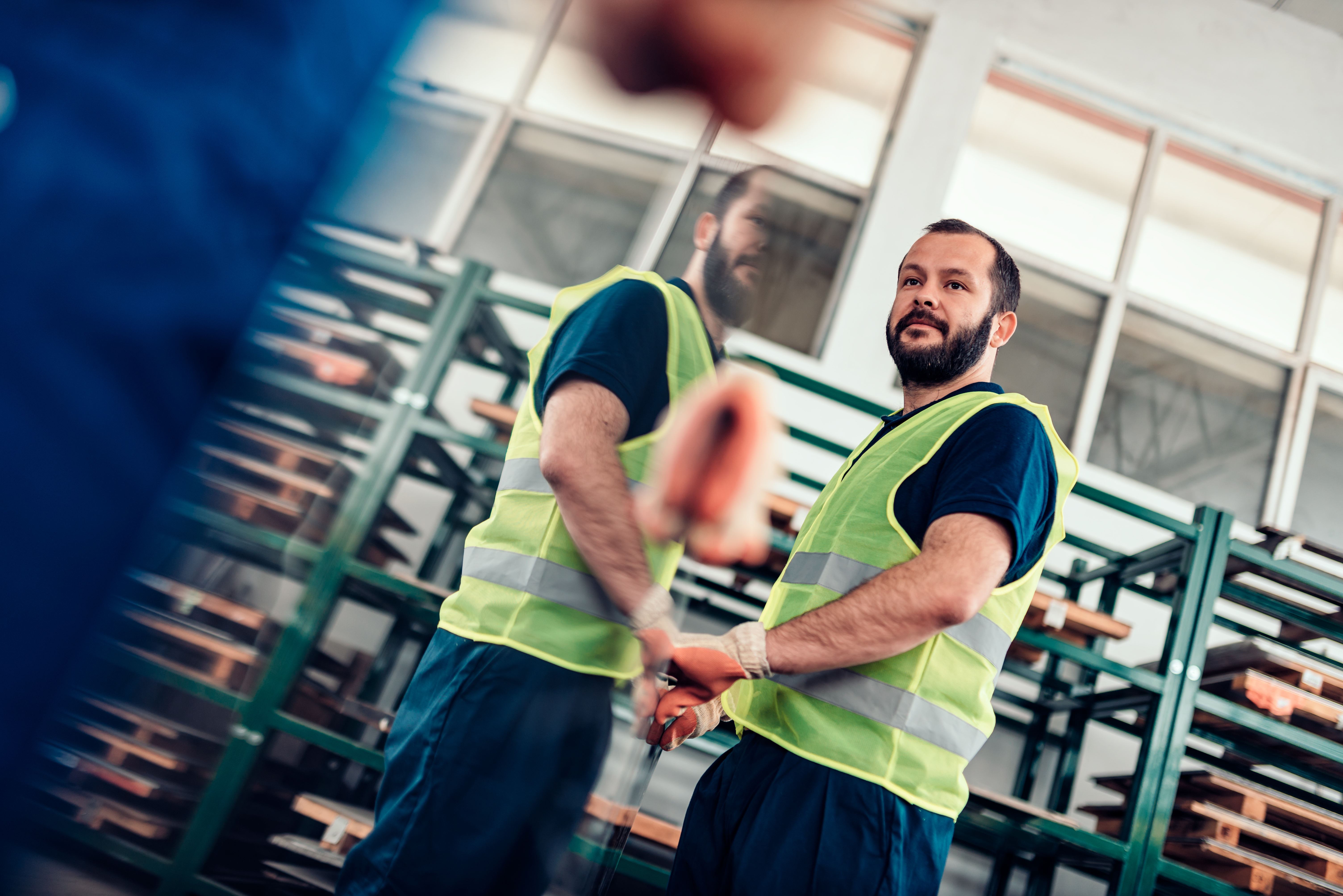 Man working in a retail warehouse